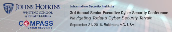JHUISI - Senior Executive Cyber Security Conference